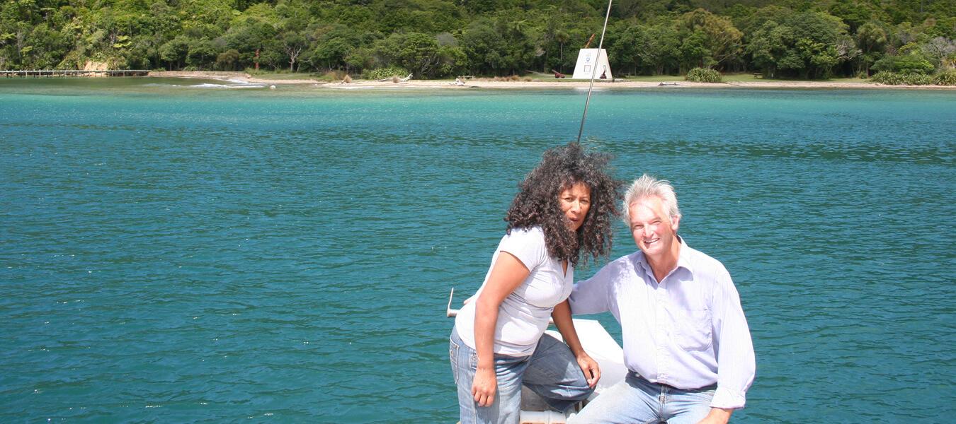 Peter And Takutai Of Maori Eco Cruises In Marlborough Sounds NZ