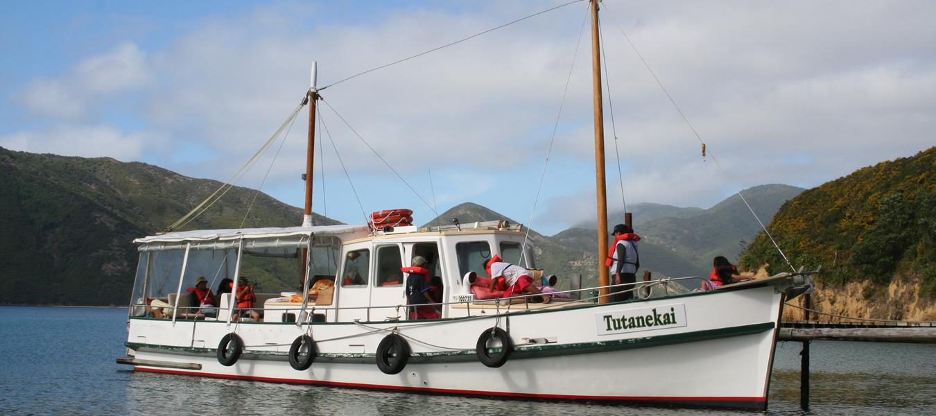 Good Ship Tutanekai Maori Eco Cruises In Marlborough Sounds NZ