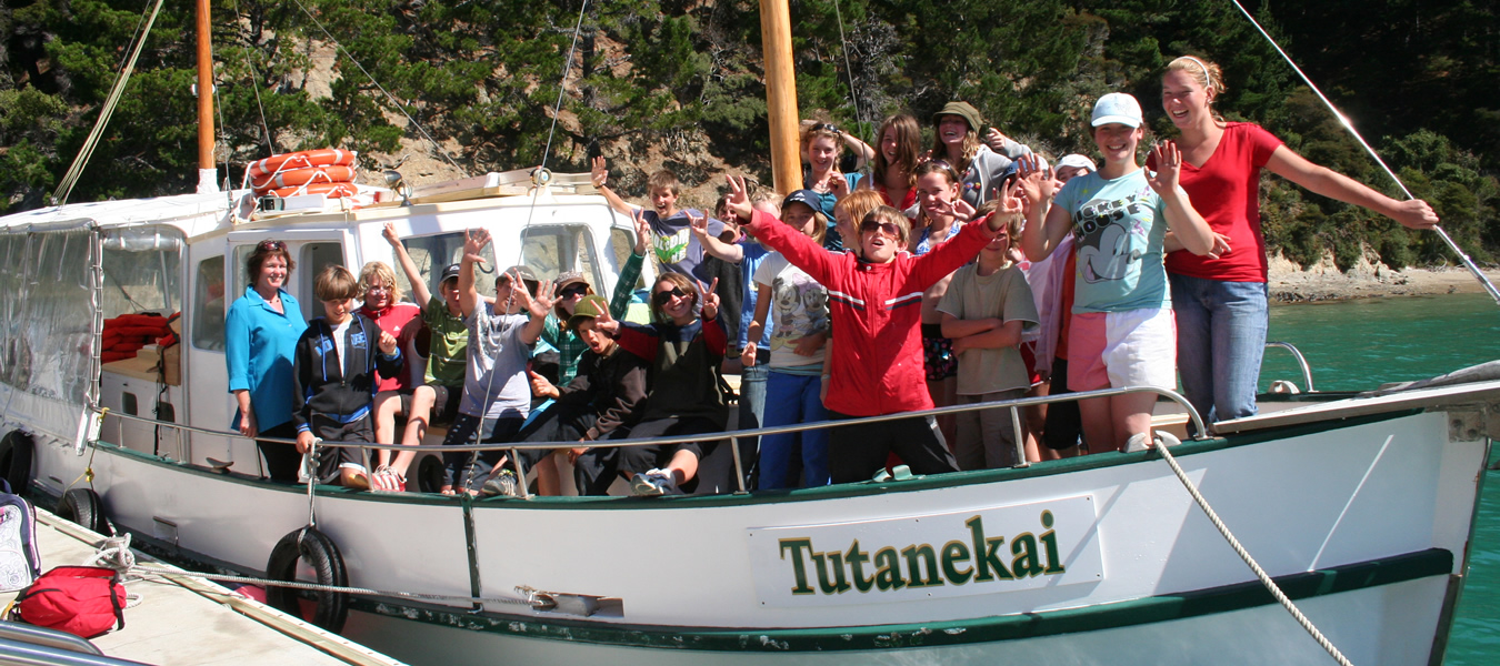 Montessori School From Christchurch On Tour With Maori Eco Cruises In Marlborough Sounds NZ