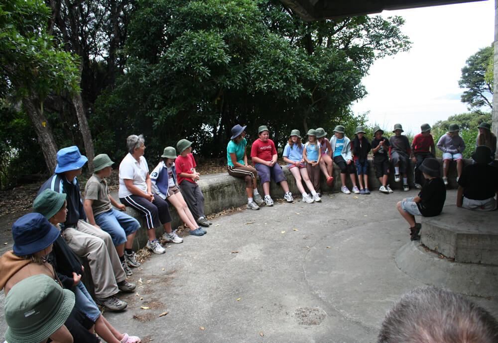 Lunch Break At Blumine Island Gun Emplacement With Maori Eco School Cruises