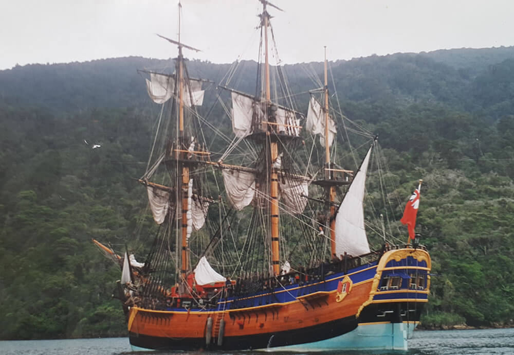 Replica Of The Endeavour Shared By Maori Eco School Cruises